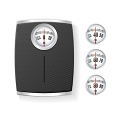 Bathroom scale isolated on a white vector