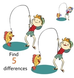Find differences between the two images - vector