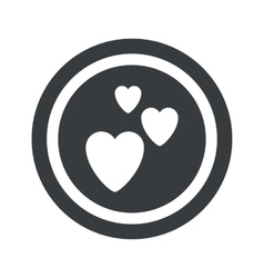 Round black love sign vector
