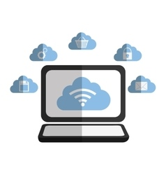 Cloud computing and hosting design vector