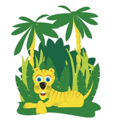 Jungle tiger vector