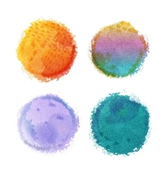 Watercolor round spots with hand drawn vector