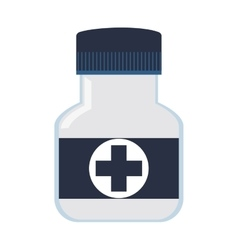 Pill bottle icon vector