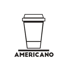 Black icon on white background americano to vector