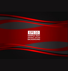 abstract background red and black wave with copy vector image vector image