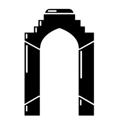 Archway palace icon simple black style vector