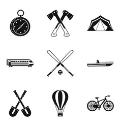 big muscle icons set simple style vector image