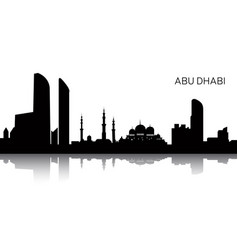 cityscape of abu dhabi vector image