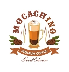 Coffee drink badge for cafe design vector