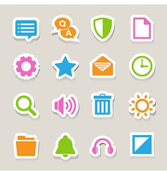 Computer menu icons set eps 10 vector image