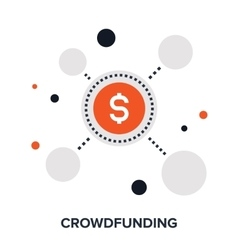 crowdfunding flat concept vector image vector image