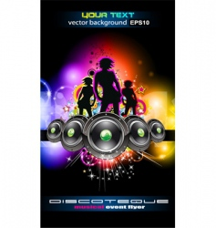 discotheque Dj event flyer vector image