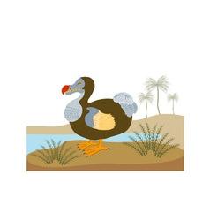 Dodo bird raphus cucullatus retro vector