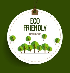 ECO FRIENDLY Ecology concept with Nature banner vector image