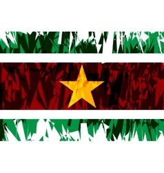 Flag of Suriname vector image vector image