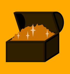flat icon on stylish background treasure chest vector image
