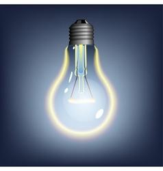 Glowing lightbulb vector
