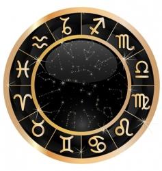 gold zodiac circle copy vector image vector image