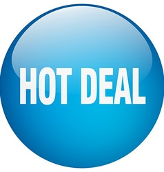 Hot deal blue round gel isolated push button vector
