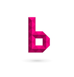 Letter b mosaic logo icon design template elements vector
