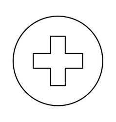 Medical cross symbol vector