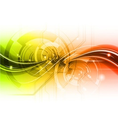 red and green tech background vector image vector image