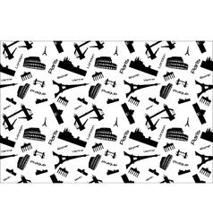 Seamless background landmarks vector image