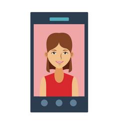 Smartphone video call technology vector