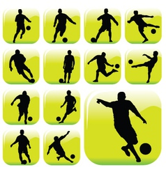 soccer players vector image vector image