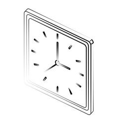 square wall clock icon image vector image