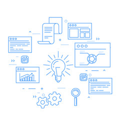 Stock exchange and business analytics data flow vector