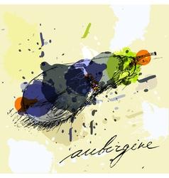 stylized aubergine vector image vector image