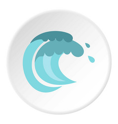 tenth wave icon circle vector image