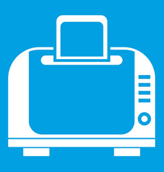 toaster icon white vector image