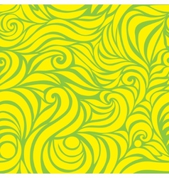 Wave seamless hand drawn pattern vector image vector image