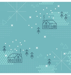 Winter geometric collage seamless pattern vector image vector image