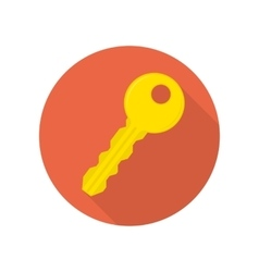 Modern key icon vector image