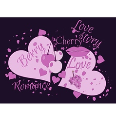 Love story beautiful print for t-shirts and textil vector
