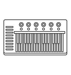 music synthesizer icon outline style vector image
