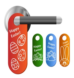 Easter door hanger set vector image