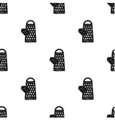 Grating cheese icon in black style isolated on vector