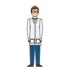 scientific man avatar icon vector image