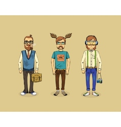 Hipster men vector