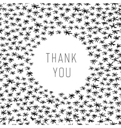 thank you hand drawn vector image