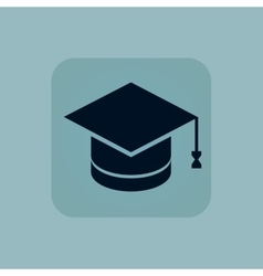 Pale blue graduation icon vector