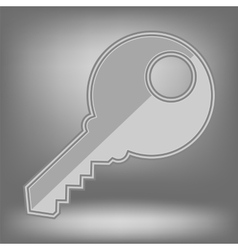 Grey key icon vector