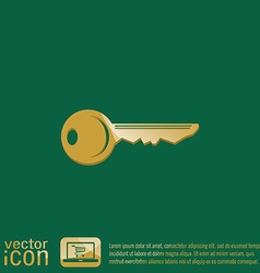 Key symbol icon vector