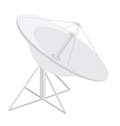 Satellite dish antenna vector