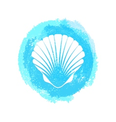 White sea shell vector
