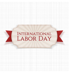 International labor day paper white banner vector